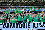 Northern Ireland fans during the Euro 2016 match between Poland and Northern Ireland at the Stade de Nice, Nice, France on 12 June 2016. Photo by Phil Duncan.