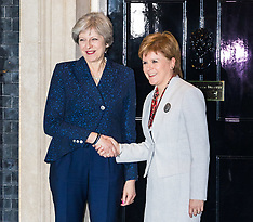 2017-11-14 Scottish First Minister Nicola Sturgeon visits Theresa May at Downing Street