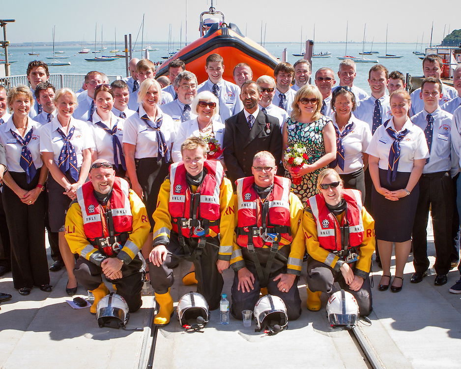 Opening of Cowes lifeboat station by Her Majesty Queen Elizabeth II as part of her Diamond Jubilee tour. Atlantic 85 inshore lifeboat Sheena Louise B-859 also named at the ceremony.