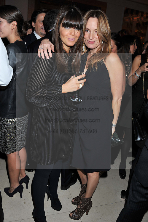 Left to right, CLAUDIA WINKLEMAN and EMILY OPPENHEIMER-TURNER at the Harper's Bazaar Women of the Year Awards 2011 held at Claridge's, Brook Street, London on 7th November 2011.