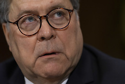 May 1, 2019 - Washington, District of Columbia, U.S. - Attorney General WILLIAM BARR testifies during the Senate Judiciary Committee hearing on the ''Department of Justice's Investigation of Russian Interference with the 2016 Presidential Election.'' Barr told the Senate Judiciary Committee that he did not misrepresent the report. (Credit Image: © Douglas Christian/ZUMA Wire)
