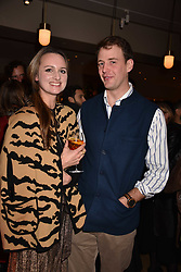 Bryony Daniels and Hugh Nicoll at the launch of Fiume at Battersea Power Station, Battersea, London England. 16 November 2017.<br /> Photo by Dominic O'Neill/SilverHub 0203 174 1069 sales@silverhubmedia.com