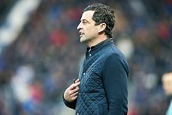 St Mirren's manager Jack Ross. Falkirk 3 v 1 St Mirren, Scottish Championship game played 3/12/2016 at The Falkirk Stadium .