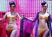 ZHENGZHOU, CHINA - JUNE 15: (CHINA OUT) <br /> <br /> Gold Underwear <br /> <br /> A model showcases gold underwear during the 120th anniversary of Cuihua Gold Shop on June 15, 2015 in Zhengzhou, Henan Province of China. Five designers and four craftsmen spent five months making two suits of gold underwear, and each suit worth four million yuan (644,400 USD).<br /> ©Exclusivepix Media