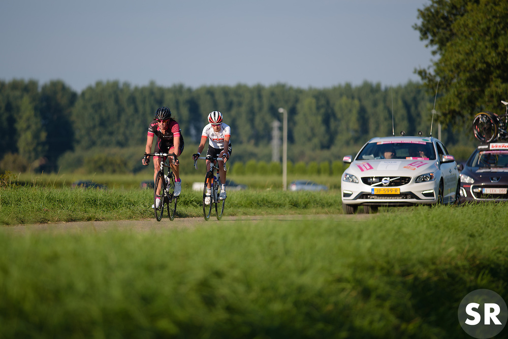 Lead two work well togeher building a lead of over five minutes at the 103 km Stage 1 of the Boels Ladies Tour 2016 on 30th August 2016 in Tiel, Netherlands. (Photo by Sean Robinson/Velofocus).