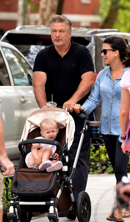 Sept. 20, 2015 - New York City, NY, USA - <br /> <br /> Actor Alec Baldwin went out with his wife Hilaria and daughter Carmen on September 20 2015 in New York City  <br /> ©Exclusivepix Media