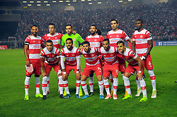 October 22, 2017 - Rades, Tunisia - Team of Club Africain  during the Semi-final return of the CAF Cup between Club Africain (CA) and Supersport United FC of South Africa at the stadium of Rades  in Tunis..Club Africain lost (1-3) against the South African Super Sport Utd who will face TP Mazembe in the final. (Credit Image: © Chokri Mahjoub via ZUMA Wire)
