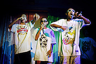 LSD Hood on stage at a rap concert in Yangon, Myanmar.