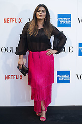 September 13, 2018 - Madrid, Spain - Marisa Jara attends to photocall of Vogue Fashion Night Out 2018 in Madrid, Spain. September 14, 2018. (Credit Image: © Coolmedia/NurPhoto/ZUMA Press)