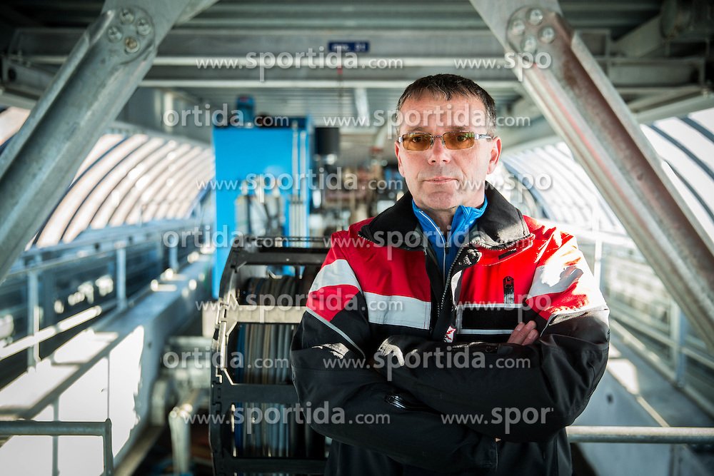 Robert Jenko, Lift Operator and Lift Maintenance at Krvavec SKI Resort, on December 21, 2016 in Krvavec, Slovenia. Photo by Vid Ponikvar / Sportida