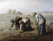 The Gleaners', 1857: Jean Francois Millet (1814-1875) Frnech painter.
