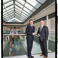 FREE IMAGE- NO REPRO FEE. Dr. Derek Power, Consultant Oncologist, at Cork University Hospital and Mercy University Hospital Cork with Dr. Declan Soden, Principal Investigator and General Manager with Cork Cancer Research Centre. Photo By Tomas Tyner, UCC.