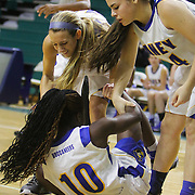 The Laney High School Girls faced New Hanover High School on the second day of the Leon Brogden Holiday Tournament Saturday December 27, 2014 at UNCW. (Jason A. Frizzelle)