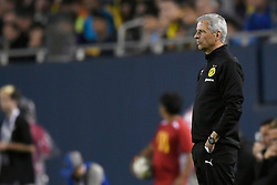 July 20, 2018 - Chicago, IL, U.S. - CHICAGO, IL - JULY 20: Borussia Dortmund head coach Lucien Favre looks on during an International Champions Cup match between Manchester City and Borussia Dortmund on July 20, 2018 at Soldier Field in Chicago, Illinois. (Photo by Robin Alam/Icon Sportswire) (Credit Image: © Robin Alam/Icon SMI via ZUMA Press)