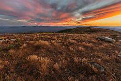 Sunset on the Appalachian Trail on Saddleback Mountain in Maine's High Peaks Region.