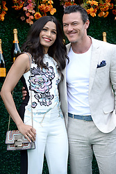 June 3, 2017 - Jersey City, NJ, USA - June 3, 2017 Jersey City, NJ..Freida Pinto and Luke Evans attending the Veuve Cliquot Polo Classic at Liberty State Park on June 3, 2017 in Jersey City, NJ. (Credit Image: © Kristin Callahan/Ace Pictures via ZUMA Press)