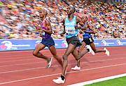 Mo Farah aka Mohamed Farah (GBR), Bernard Kimeli (KEN) and Mathew Kimeli (KEN) lead the 10,000m in the 56th Ostrava Golden Spike in an IAAF World Challenge meeting at Mestky Stadion in Ostrava, Czech Republic on Wednesday, June 28, 20017. Farah won in 27:12.09. Mathew Kimeli was second in 27:14.43 and Bernard Kimeli was fifth in 28:09.46. (Jiro Mochizuki/Image of Sport)