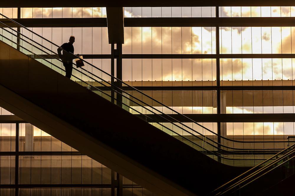 Escalators, Ben Gurion International Airport, Israel.