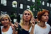 Warszawa. 20.07.2017 Protest po glosowaniu nad ustawa o Sadzie Najwyzszym. Fot: Krystian Maj/FORUM
