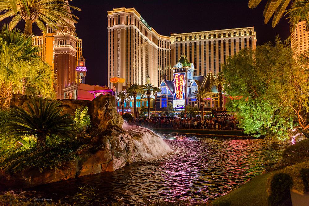 Night view of Las Vegas, Neveda, USA.