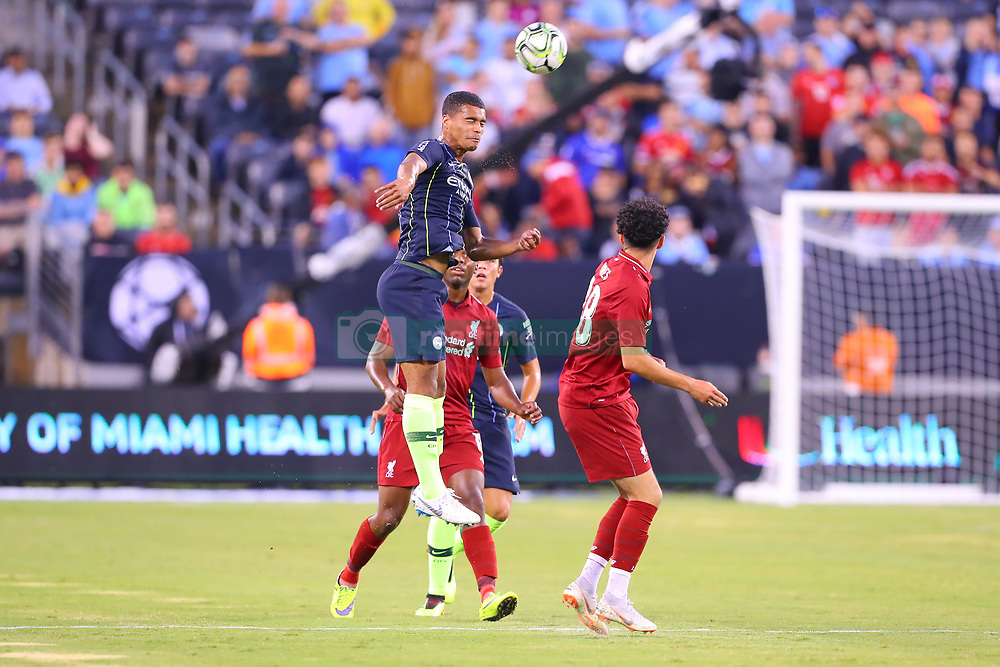 July 25, 2018 - East Rutherford, NJ, U.S. - EAST RUTHERFORD, NJ - JULY 25:  Manchester City defender Cameron Humphreys (77) during the first half of the International Champions Cup Soccer game between Liverpool and Manchester City on July 25, 2018 at Met Life Stadium in East Rutherford, NJ.  (Photo by Rich Graessle/Icon Sportswire) (Credit Image: © Rich Graessle/Icon SMI via ZUMA Press)
