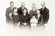 studio group family portrait from around late 1930s France
