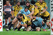 James Broadhurst goes close to scoring a try. Waratahs v Hurricanes. 2012 Super Rugby round 15 match. Allianz Stadium, Sydney Australia on Saturday 2 June 2012. Photo: Clay Cross / photosport.co.nz