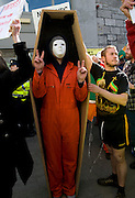 Protestors at the Labour conference at NUIG. Photo:Andrew Downes.