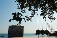 Grèce, Macédoine, Thessalonique, statue d'Alexandre le Grand // Greece, Macedonia, Thessaloniki, Alexander the Great statue