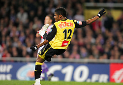 Michel Bastos of Lille scores the opening goal against Toulouse during the first half of extra time of the 1/4 Final of la Coupe de France, Stade Municipal, Toulouse, France, 18th March 2009.