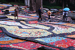 November 19, 2018 - Chongqin, Chongqin, China - Chongqing, CHINA-The colorful ceramic tiles form 'terraced fields' at Sichuan Fine Arts Institute in southwest China's Chongqing. (Credit Image: © SIPA Asia via ZUMA Wire)