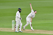 Ed Barnard of Worcestershire bowling during the Specsavers County Champ Div 1 match between Hampshire County Cricket Club and Worcestershire County Cricket Club at the Ageas Bowl, Southampton, United Kingdom on 13 April 2018. Picture by Graham Hunt.