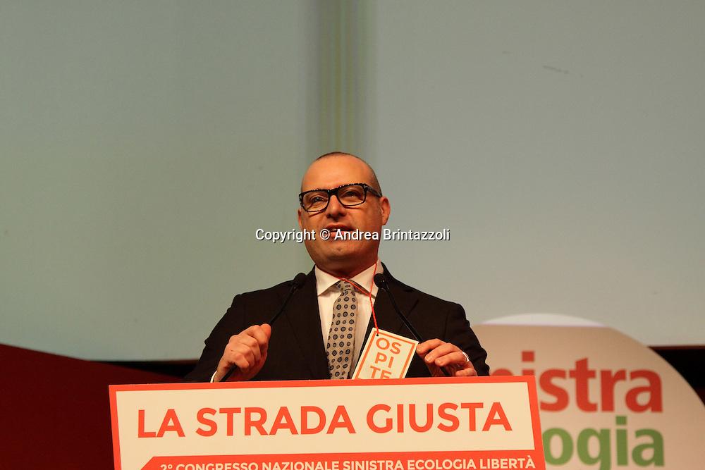 Riccione 25 Gennaio 2014 - 2&deg; Congresso Nazionale Sinistra Ecologia Liberta' - SEL<br /> Intervento di Stefano Bonaccini al congresso SEL