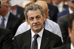 September 30, 2016 - Jerusalem, ISRAEL - Former French President Nicolas Sarkozy attends the funeral of former Israeli President Shimon Peres at Mt. Herzl Military Cemetery in Jerusalem, Friday, Sept. 30, 2016. (Credit Image: © Prensa Internacional via ZUMA Wire)
