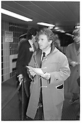 BRIAN SEWELL, Contemporary Art Fair, Barbican, London. 19 January 1984. SUPPLIED FOR ONE-TIME USE ONLY> DO NOT ARCHIVE. © Copyright Photograph by Dafydd Jones 248 Clapham Rd.  London SW90PZ Tel 020 7820 0771 www.dafjones.com