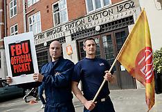 SEP 25 2013 National Fire Brigades Union Strike