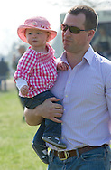 """SAVANNAH PHILLIPS TAKES FIRST STEPS IN PUBLIC.Peter Phillips and Autumn Kelly's first child and the Queen's first great-grandchild, Savannah took her first steps in public..The 15-month-old was at the Gatcombe Horse Trials, Minchinhampton. .Mandatory credit photo: ©Dias/NEWSPIX INTERNATIONAL..(Failure to credit will incur a surcharge of 100% of reproduction fees)..                **ALL FEES PAYABLE TO: """"NEWSPIX INTERNATIONAL""""**..IMMEDIATE CONFIRMATION OF USAGE REQUIRED:.Newspix International, 31 Chinnery Hill, Bishop's Stortford, ENGLAND CM23 3PS.Tel:+441279 324672  ; Fax: +441279656877.Mobile:  07775681153.e-mail: info@newspixinternational.co.uk"""
