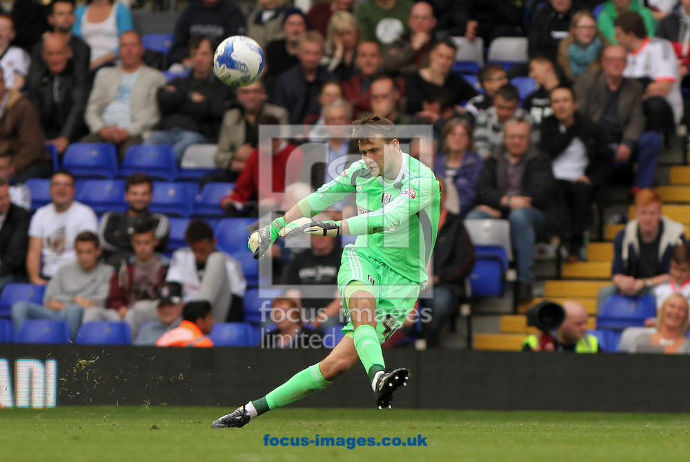 Marcus Bettinelli of Fulham during the Sky Bet Championship match at St Andrews, Birmingham<br /> Picture by Tom Smith/Focus Images Ltd 07545141164<br /> 27/09/2014