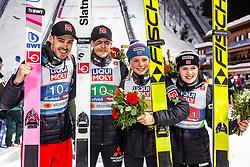 02.03.2019, Seefeld, AUT, FIS Weltmeisterschaften Ski Nordisch, Seefeld 2019, Skisprung, Mixed Team Bewerb, Flower Zeremonie, im Bild Andreas Stjernen (NOR), Robert Johansson (NOR), Maren Lundby (NOR), Anna Odine Stroem (NOR) // Andreas Stjernen of Norway Robert Johansson of Norway Maren Lundby of Norway Anna Odine Stroem of Norway during the Flower Zeremonie for the mixed team competition in ski jumping of nordic combination of FIS Nordic Ski World Championships 2019. Seefeld, Austria on 2019/03/02. EXPA Pictures © 2019, PhotoCredit: EXPA/ Stefanie Oberhauser
