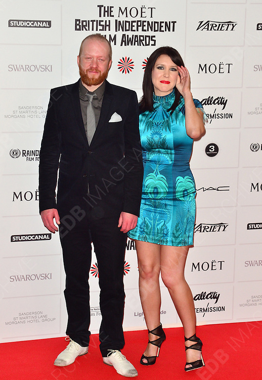 09.DECEMBER.2012. LONDON<br /> <br /> ALICE LOWE AND STEVE ORAM ATTENDS THE BRITISH INDEPENDENT FILM AWARDS AT OLD BILLINGSGATE MARKET. <br /> <br /> BYLINE: JOE ALVAREZ/EDBIMAGEARCHIVE.CO.UK<br /> <br /> *THIS IMAGE IS STRICTLY FOR UK NEWSPAPERS AND MAGAZINES ONLY*<br /> *FOR WORLD WIDE SALES AND WEB USE PLEASE CONTACT EDBIMAGEARCHIVE - 0208 954 5968*