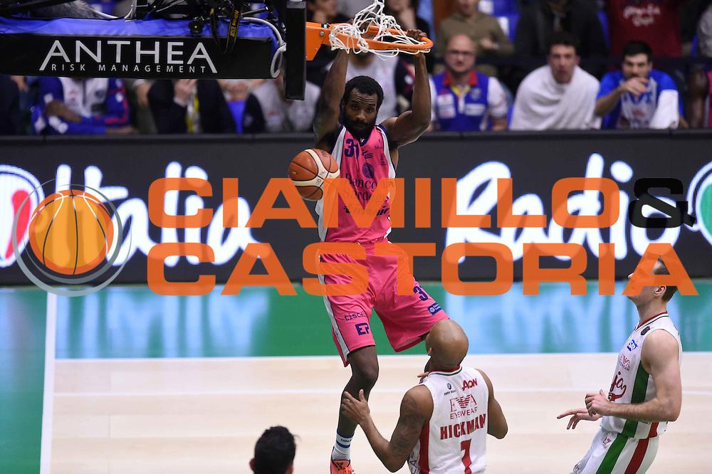 Gani Lawal<br /> EA7 Emporio Armani Olimpia Milano - Banco di Sardegna Dinamo Sassari <br /> Poste Mobile Final Eight F8 2017 <br /> Lega Basket 2016/2017<br /> Rimini, 19/02/2017<br /> Foto Ciamillo-Castoria
