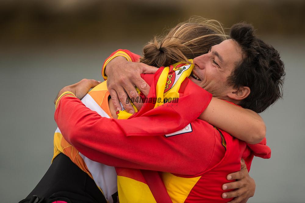 2012 Olympic Games London / Weymouth<br /> RSX Medal Race<br /> Alabau Marina, (ESP, RS:X Women)
