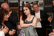 Lisa Appignanese; DAVID GILMOUR; HELENA BONHAM CARTER; TOM ASTOR; , Freud Museum dinner, Maresfield Gardens. 16 June 2011. <br /> <br />  , -DO NOT ARCHIVE-© Copyright Photograph by Dafydd Jones. 248 Clapham Rd. London SW9 0PZ. Tel 0207 820 0771. www.dafjones.com.