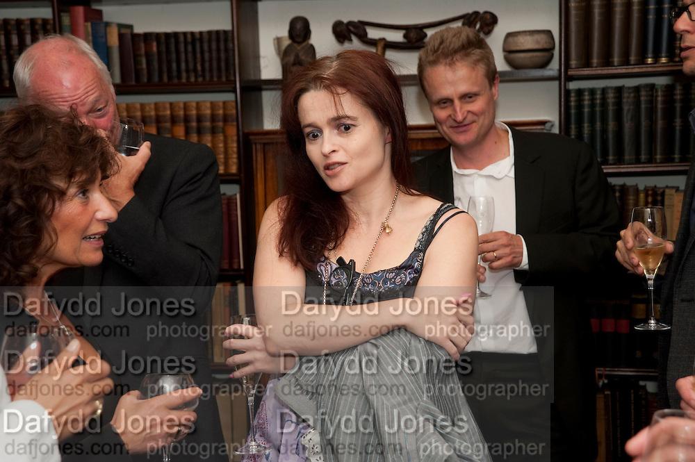 Lisa Appignanese; DAVID GILMOUR; HELENA BONHAM CARTER; TOM ASTOR; , Freud Museum dinner, Maresfield Gardens. 16 June 2011. <br /> <br />  , -DO NOT ARCHIVE-© Copyright Photograph by Dafydd Jones. 248 Clapham Rd. London SW9 0PZ. Tel 0207 820 0771. www.dafjones.com.