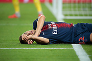 Thomas Meunier (PSG) during the French Championship Ligue 1 football match between Paris Saint-Germain and AS Saint-Etienne on September 14, 2018 at Parc des Princes stadium in Paris, France - Photo Stephane Allaman / ProSportsImages / DPPI