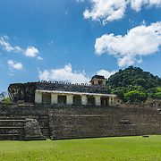 Palace structure at Palenque ruins, Mexico