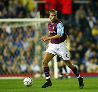 Fotball, 16. september 2002. FA Barclaycard premiership,  Birmingham - Aston Villa 3-0. Olof Mellberg, Aston Villa.