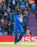 Hardik Pandya of India gives a thumbs up during the ICC Cricket World Cup 2019 match between South Africa and India at the Hampshire Bowl, Southampton, United Kingdom on 5 June 2019.