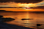 Sunset on Chedabucto Bay (Atlantic Island)<br /> Fox Island<br /> Nova Scotia<br /> Canada