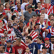 USA soccer fans in the crowd during the USA V Brazil International friendly soccer match at FedEx Field, Washington DC, USA. 30th May 2012. Photo Tim Clayton